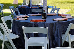 tables and chairs for weddings